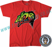 Load image into Gallery viewer, Bob Marley 420 Reggae T Shirt T-Shirt Unisex Mens Kids Ladies - TeeTiger