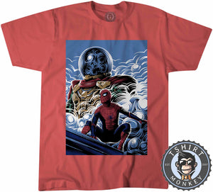 Far From Home Movie Inspired Poster Fan Art Tshirt Shirt Kids Youth Children 2363