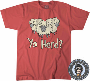 Ya Herd - Funny Animal Print Sheep Cartoon Tshirt Kids Youth Children 1311