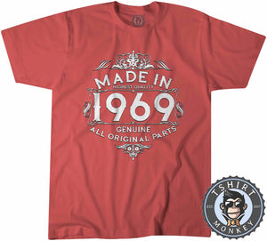 1969 Made In Highest Quality Graphic Illustration Tshirt Kids Youth Children 1170
