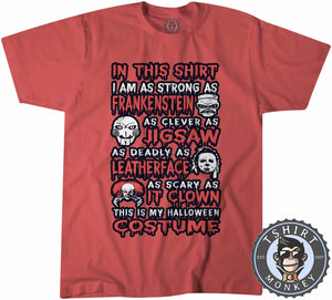 In This Shirt Movie Inspired Popular Halloween Statement Tshirt Kids Youth Children 1125