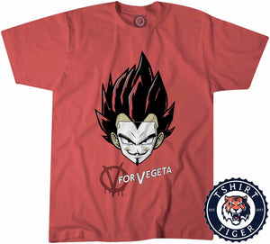 V for Vegeta TV Movie Inspired Mashup Shirt Tshirt Kids Youth Children 3152