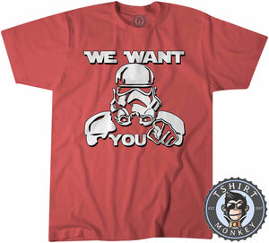 We Want You - Stormtrooper Inspired Funny Statement Tshirt Kids Youth Children 1128