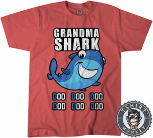 Grandma Shark Music Inspired Cartoon Tshirt Kids Youth Children 1231
