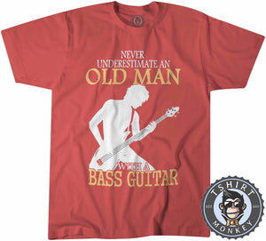 Never Estimate An Old Man Tshirt Kids Youth Children 0115