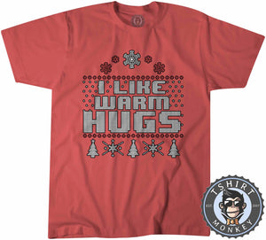Warm Hugs Ugly Sweater Christmas Tshirt Kids Youth Children 1642