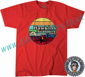 Hawkins Summers Camp Stranger Things T-Shirt Unisex Mens Kids Ladies