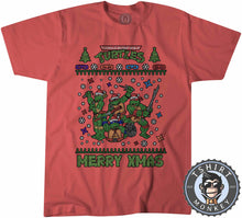 Load image into Gallery viewer, Cowabunga Ugly Sweater Christmas Tshirt Kids Youth Children 1673