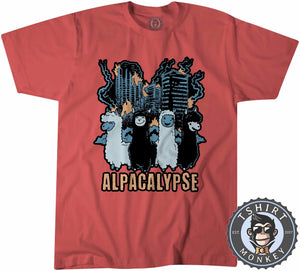 Alpacalypse - Apocalypse Meme Animal Print Funny Tshirt Kids Youth Children 1220