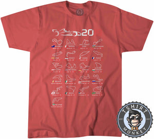 F1 Circuits Inspired 2019 Tshirt Kids Youth Children 0028