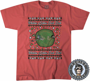 Wubba Lubba Dub Dub Ugly Sweater Christmas Tshirt Kids Youth Children 1678