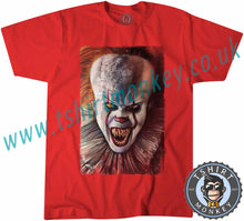 Load image into Gallery viewer, Scary Pennywise Clown IT Chapter 2 Movie Halloween T-Shirt Unisex Mens Kids Ladies - TeeTiger