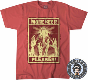 More Beer Please Funny Poster Drinking Statement Tshirt Kids Youth Children 1178