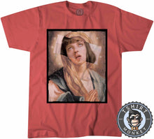 Load image into Gallery viewer, Virgin Mia Wallace Pulp Fiction Movie Inspired Halftone Graphic Illustration Tshirt Kids Youth Children 1130