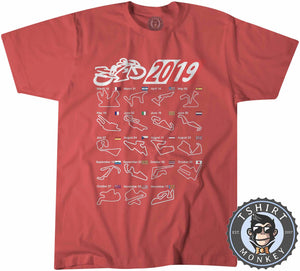 MotoGP Circuit Calendar 2019 Tshirt Kids Youth Children 0173
