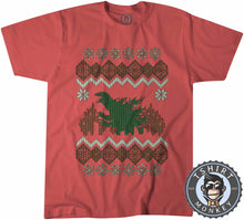 Load image into Gallery viewer, Godzilla Ugly Sweater Christmas Tshirt Kids Youth Children 2897