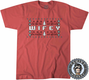 Wifey Ugly Sweater Christmas Tshirt Kids Youth Children 1679