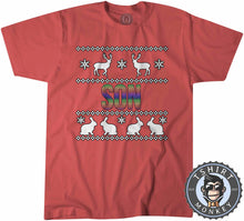 Load image into Gallery viewer, Son Rainbow Ugly Sweater Christmas Tshirt Kids Youth Children 1664