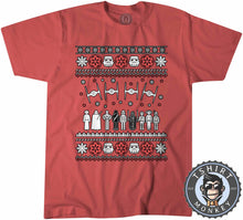 Load image into Gallery viewer, Jedi Force Ugly Sweater Christmas Tshirt Kids Youth Children 1669