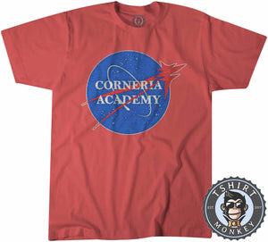 Corneria Academy - Game Inspired Star Fox NASA Meme Gamer Tshirt Kids Youth Children 1322