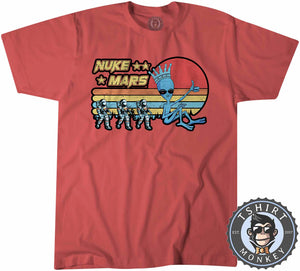 Vintage Nuke Mars Funny Astronaut Alien Graphic Tshirt Kids Youth Children 1085