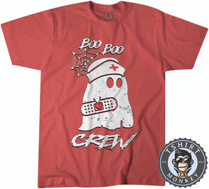 Boo Boo Crew - Cool Funny Ghost Halloween Tshirt Kids Youth Children 1213