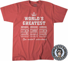 Load image into Gallery viewer, World's Greatest Dad | Guitar Chords Tshirt Kids Youth Children 0078