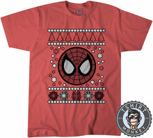 Load image into Gallery viewer, Spidey Badge Ugly Sweater Christmas Tshirt Kids Youth Children 1665