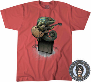 Chameleon Plays the Guitar Tshirt Kids Youth Children 0069