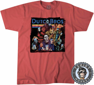 Dutch Bros Coffee Halloween Movie Inspired Vintage Tshirt Kids Youth Children 1137