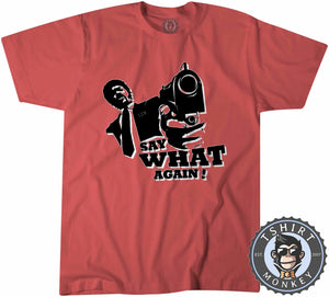 Say What Again Pulp Fiction Movie Inspired Silhouette Vintage Tshirt Kids Youth Children 1115