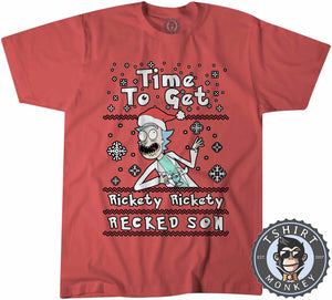 Rickety Recked Son Ugly Sweater Christmas Tshirt Kids Youth Children 1661