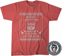 Load image into Gallery viewer, Meowy Christmas Ugly Sweater Christmas Tshirt Kids Youth Children 2876