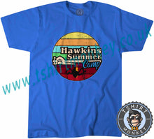 Load image into Gallery viewer, Hawkins Summers Camp Stranger Things T-Shirt Unisex Mens Kids Ladies