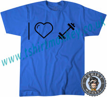Load image into Gallery viewer, I Love Weights T-Shirt Unisex Mens Kids Ladies - TeeTiger