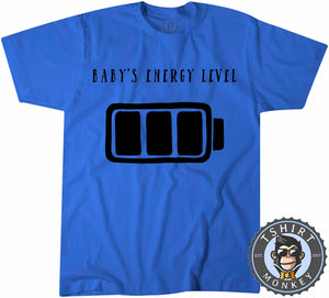 Babys Energy Level T-Shirt Unisex Mens Kids Ladies - TeeTiger