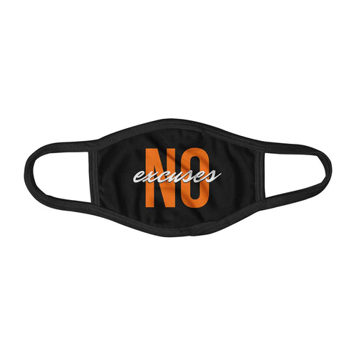 No Excuses Personal Graphic Statement Face Mask Facemask Kids Child Adults Unisex M0094