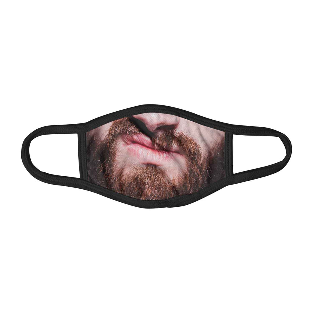 Old Beard Grunge Smile Funny Close Up Face Mask Facemask Kids Child Adults Unisex M0097