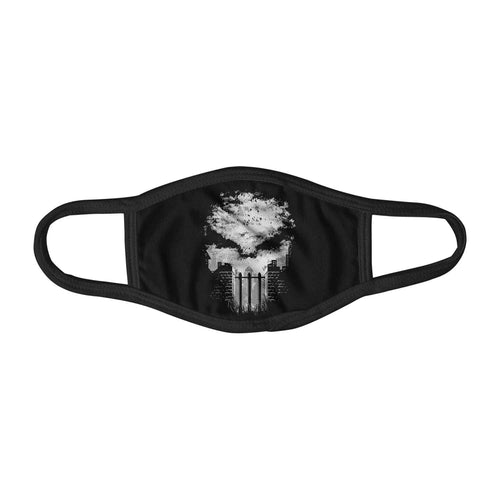 Punisher Negative Space Art Graphic Face Mask Facemask Kids Child Adults Unisex M0086