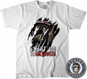I Want You To Halloween Death Grim Reaper Inspired Graphic  Tshirt Kids Youth Children 1143