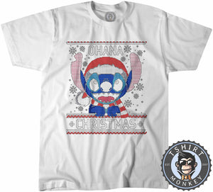 Ohana Ugly Sweater Christmas Tshirt Mens Unisex 2859