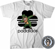 Load image into Gallery viewer, Paddidas Dabbing Leprechaun Irish Tshirt Kids Youth Children 0164