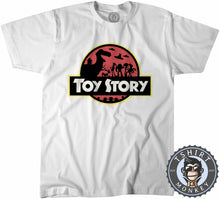 Load image into Gallery viewer, Jurassic Toy Story Tshirt Mens Unisex 0279