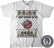 Load image into Gallery viewer, I Aint Afraid Ghost Buster Ugly Sweater Chistmas Tshirt Mens Unisex 1629