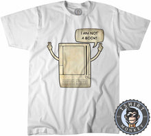 Load image into Gallery viewer, I'm Not A Book Funny Classic Pocket Computer Vintage Tshirt Mens Unisex 1295
