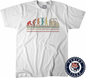 Golfvolution - Golf Inspired Evolution Funny Vintage Tshirt Mens Unisex 1084