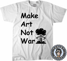 Load image into Gallery viewer, Make Art Not War Inspirational Tshirt Kids Youth Children 0003 - TeeTiger
