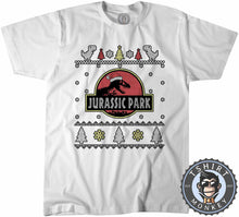 Load image into Gallery viewer, Jurassic Park Inspired Ugly Sweater Christmas Tshirt Kids Youth Children 1643