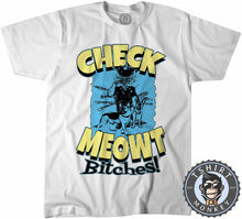 Load image into Gallery viewer, Check Meowt Funny Police Cat Graphic Tshirt Mens Unisex 1063