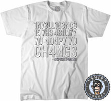 Load image into Gallery viewer, Intelligence By Stephen Hawking Tshirt Kids Youth Children 3011